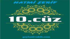 10.cüz hatim Kuranı Kerim mukabele