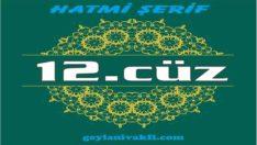 12.cüz hatim Kuranı Kerim mukabele