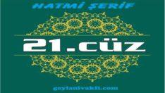 21.cüz hatim Kuranı Kerim mukabele