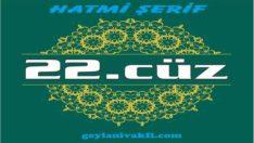 22.cüz hatim Kuranı Kerim mukabele