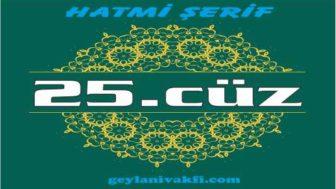 25.cüz hatim Kuranı Kerim mukabele