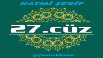 27.cüz hatim Kuranı Kerim mukabele