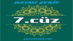 7.cüz hatim Kuranı Kerim mukabele