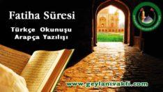 Fatiha Suresi Okunuşu Arapçası