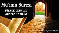 Mü'min Süresi Okunuşu Arapçası