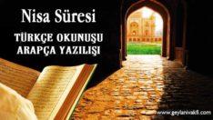 Nisa Suresi Okunuşu Arapçası