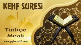 Kehf Süresi Türkçe Meali