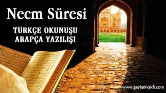 Necm Süresi Okunuşu Arapçası