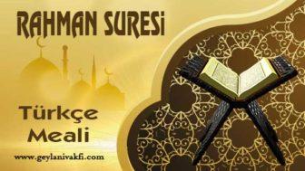 Rahman Suresi Meali