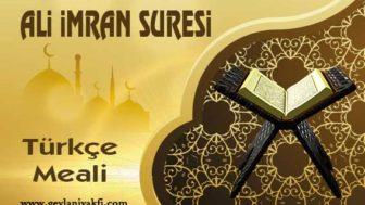 Al-i İmran Suresi Türkçe Meali
