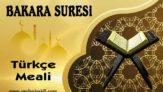 Bakara Suresi Türkçe Meali