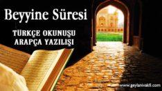 Beyyine Süresi Okunuşu Arapçası