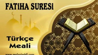 Fatiha Suresi Meali