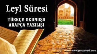 Leyl Süresi Okunuşu Arapçası