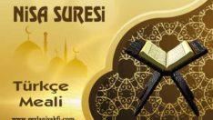 Nisa Suresi Türkçe Meali