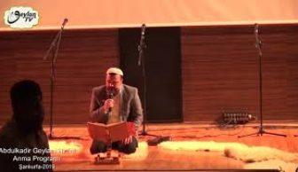Abdulkadir Geylani Hazretlerini Anma Programı 2019-1.Bölüm